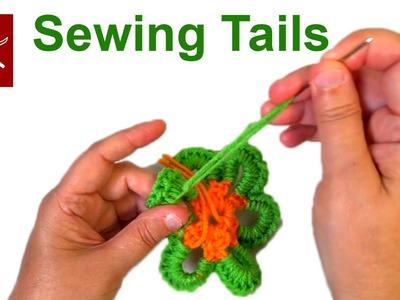 Sewing Weaving in Tails #Crochet Geek April 29