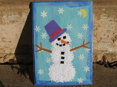 Snowman Collage Art Craft Tutorial