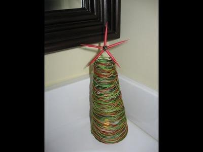String Christmas Tree Craft Tutorial