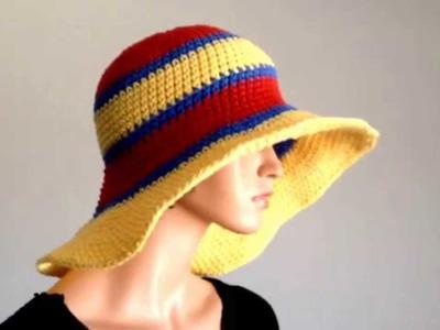 Summer Project 3: Crochet Cotton Large Brimmed Summer Hat