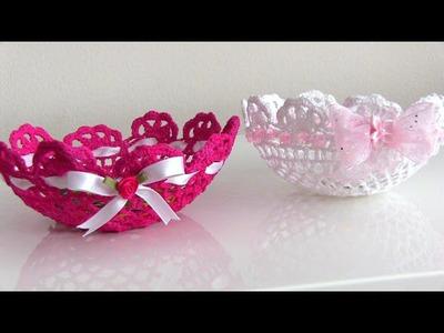 Tazon de carpetitas para decorar (lace) Crochet Bowls