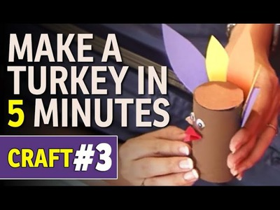 Toilet Paper Roll Craft - How to Make a Turkey (Hindi)