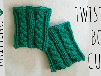 Twisted Boot Cuffs | Knit Pattern | Knitting Accessories Tutorial