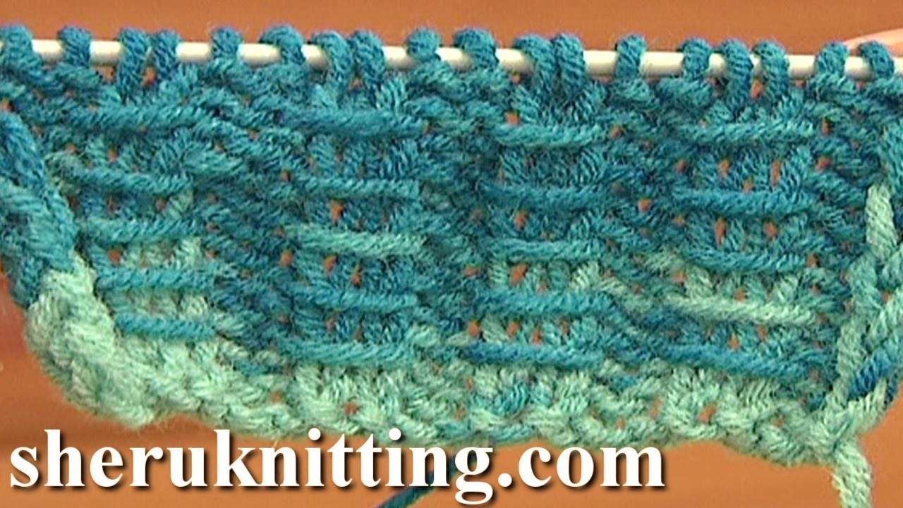 Two By Two Ribbing With Bars Knitting Tutorial 10 Free Knitting Stitch Patterns For Beginners