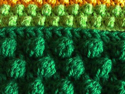 Узор шишечки крючком (crochet pattern bumps)