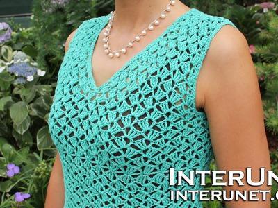 V-neck blouse crochet pattern