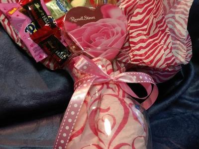 Valentine's Day Candy Bouquet DIY Tutorial