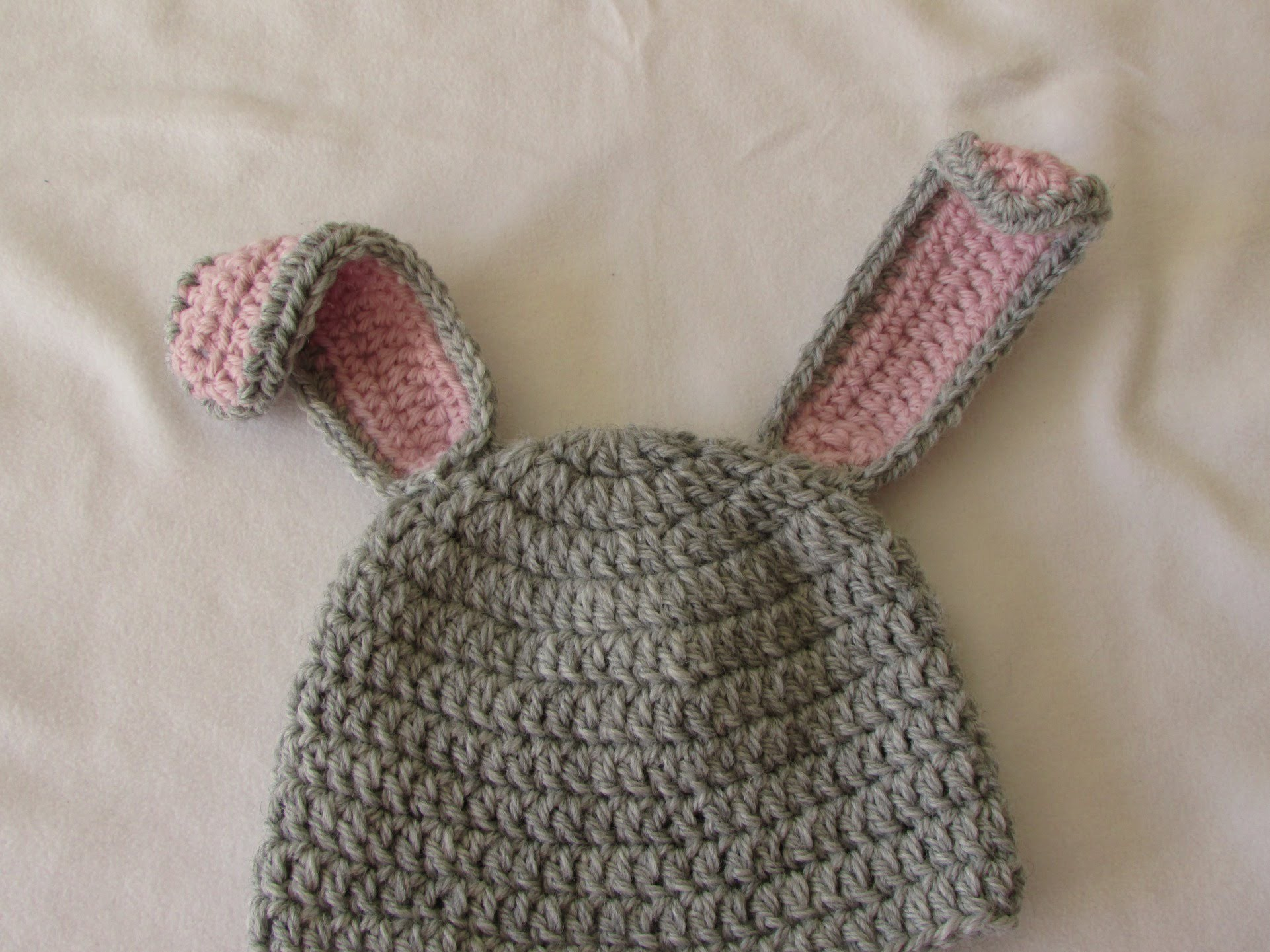 VERY EASY crochet baby. child's bunny hat tutorial - Part 2
