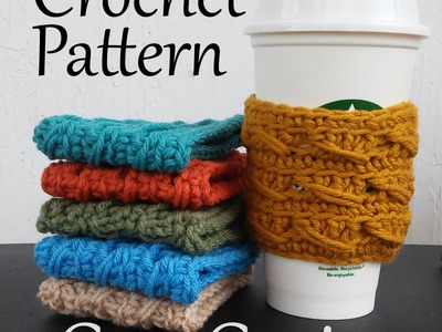 Vol 22 - Crochet Patterns - Cup Cozies