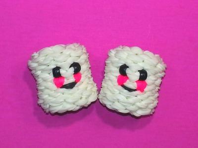 3-D Happy Marshmallow Tutorial by feelinspiffy (Rainbow Loom)
