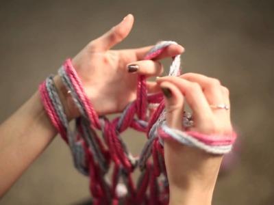 Arm Knit Scarf Tutorial