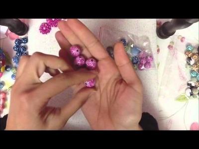 Beads, beads & beads millefiori cane (polymer clay beads