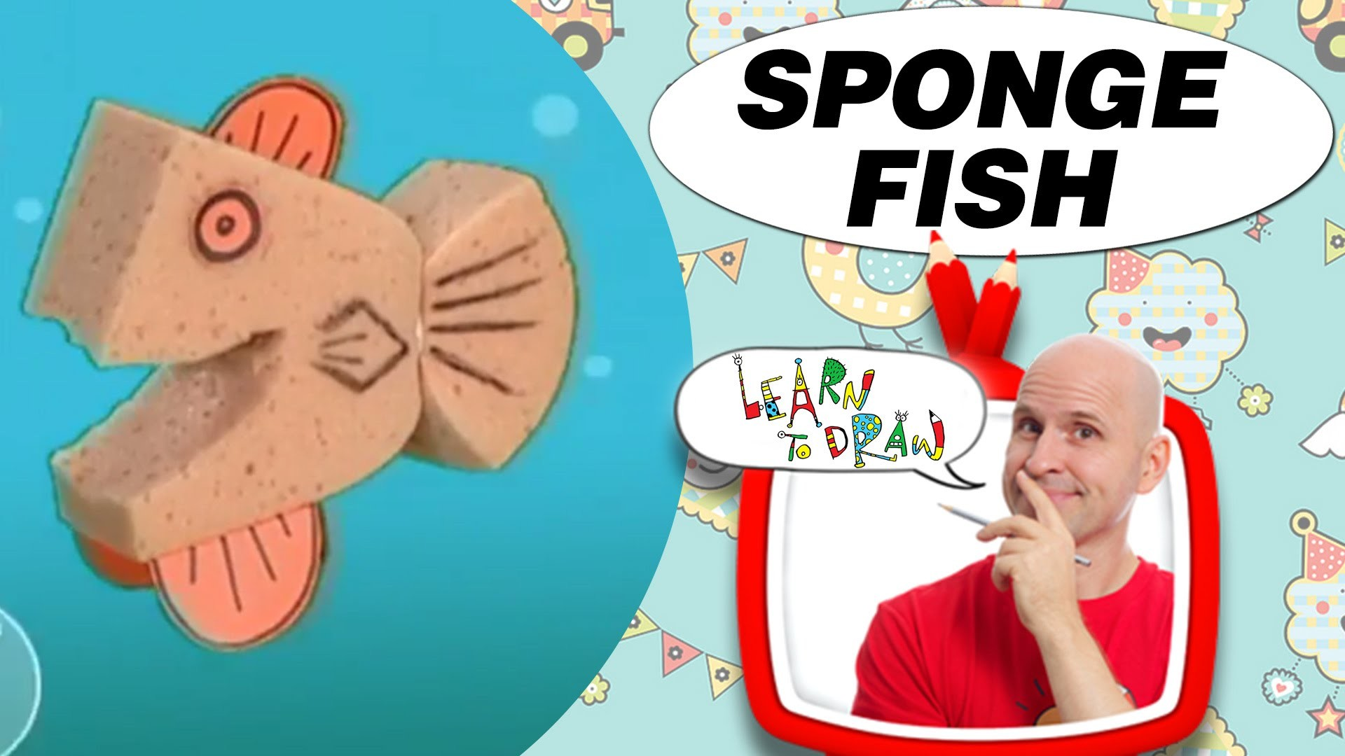 Crafts Ideas for Kids - Sponge Fish | DIY on BoxYourSelf