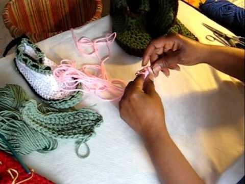 Crochet Along Slipper Sole sz 8-9 pt 1