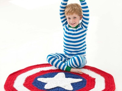#Crochet Superhero Blanket  (Video  1) Lionbrand pattern