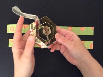 (Daily December Day 3) Easy DIY 3D Hexagon Christmas Ornament