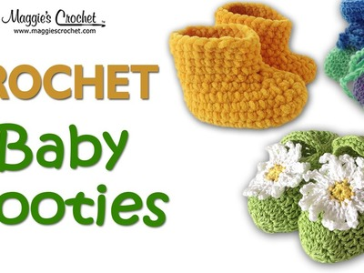 Daisy Jane Baby Bootie Free Crochet Pattern - Right Handed