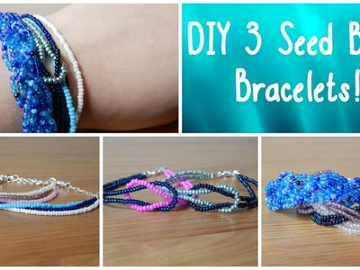 DIY 3 Seed Bead Bracelets! How To Beginners Jewellery Making ¦ The Corner of Craft