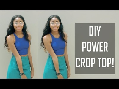 ✂ DIY AA Inspired Power Crop Top! [Sewing] (Super Easy) ✂