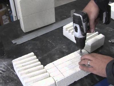DIY: Build a Nichrome Wire electric aluminum melting furnace w. fire brick