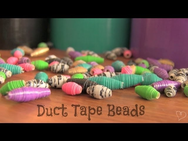 DIY: Duct Tape Beads