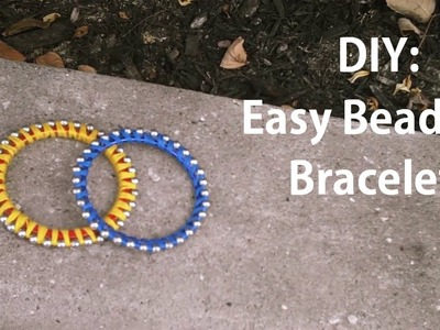 DIY: Easy Beaded Bracelet