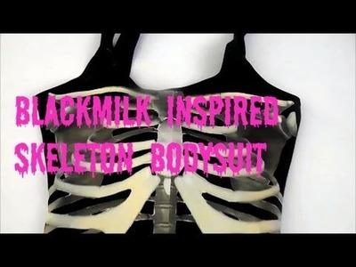 DIY Halloween Costumes: Black Milk Inspired Skeleton Bodysuit or Shirt Costume