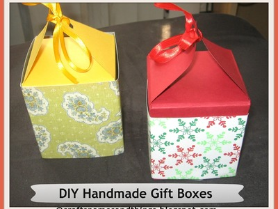 DIY Handmade Paper Gift Boxes ( using only one sheet of paper ). How to make a gift box