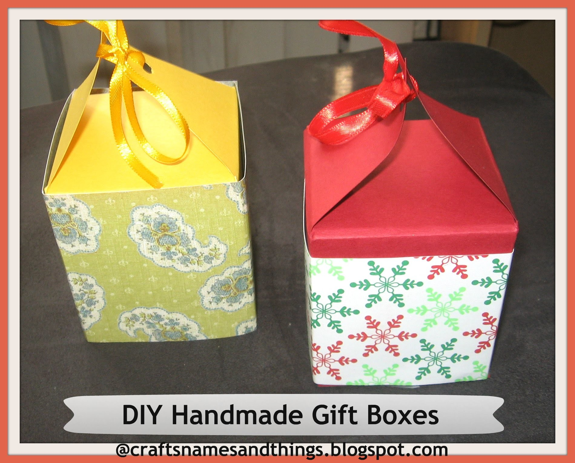 diy handmade paper gift boxes ( using only one sheet of paper ). how