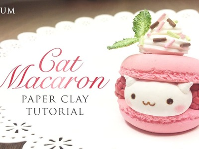 DIY How To Make Macaron Cat – Kawaii Clay Tutorial