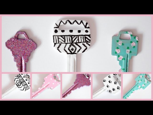 DIY Key Decorating! ♡