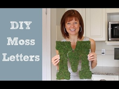 DIY Moss Letters - Spring Home Decor
