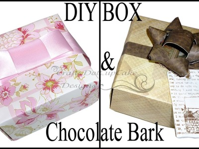 DIY Mother's Day Gift (Origami) Box & Chocolate Bark Tutorial (Or Father's Day!!!) :)
