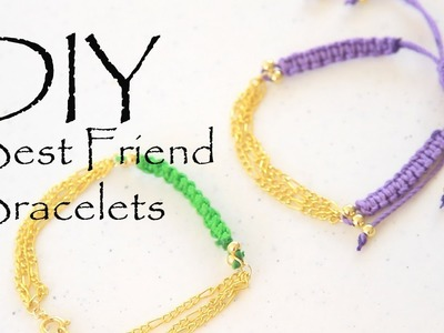 DIY Multichain Friendship Stacked Bracelets ArmCandy How to Make