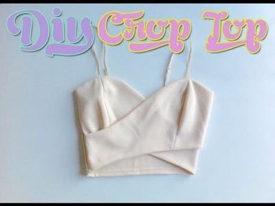 DIY Nasty Gal Wrap Crop Top (Sewing) From Tank Top. Body Suit