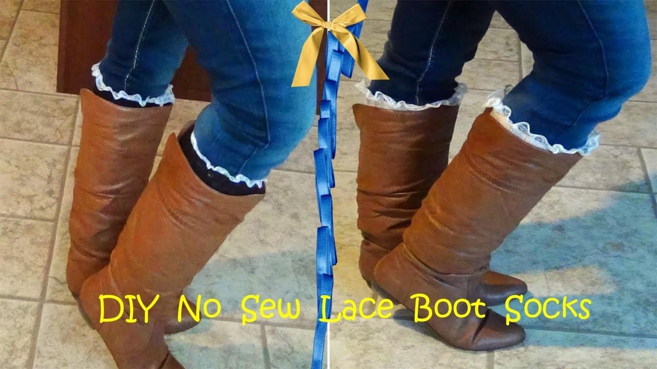 DIY No Sew Lace Boot Socks. Leg Warmers