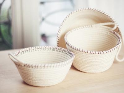 DIY Rope Baskets. DIY Paniers à corde