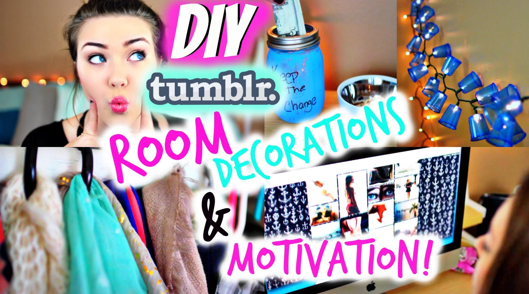 DIY Tumblr Room Decorations & Motivation For 2015!