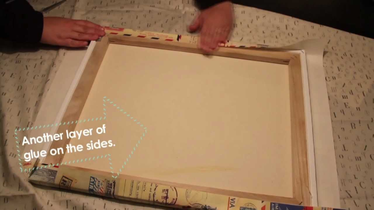 DIY: Using wrapping paper to make inexpensive art