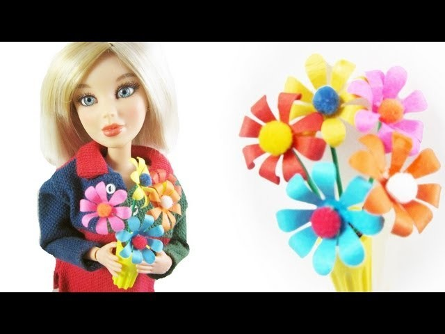 Doll Crafts: How to make a miniature flower arrangement for your doll