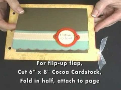 Fabulously Artsy -- Masking and Flip-Up page (Mini Scrapbook, part 5)