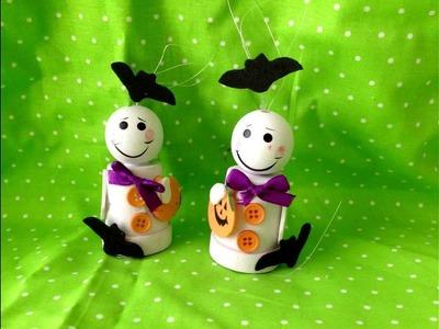 Halloween Crafts: DIY Flower Pot Ghosts