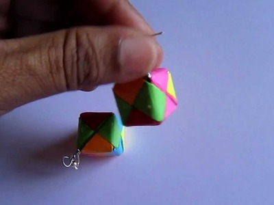 Handmade Jewelry - Origami Paper Box Earrings