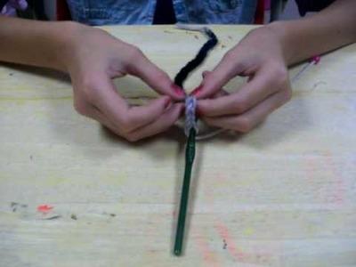 How to crochet a beaded bracelet Part 1