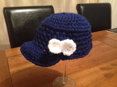 How to crochet a hat - cap for a little girl