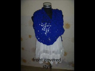 How to crochet a summer shell shawl for beginner