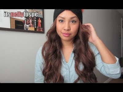 How to Curl.Wave with a Hair Straightener + a Knit Headband LOOK - itsnellylospe