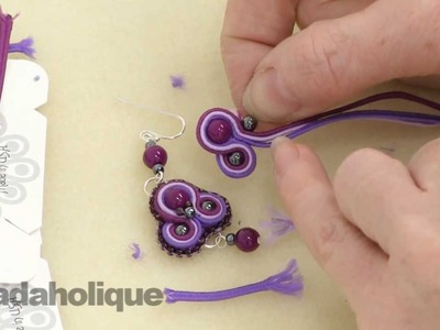 How to do Soutache Bead Embroidery: Part 3 How to Add a Side Bead and to End a Stack