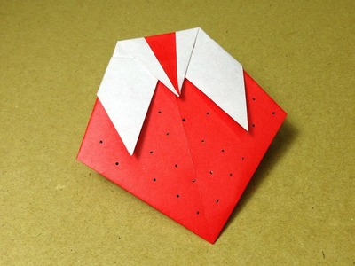 How to Make a Paper Fruit. Origami Strawberry. Easy for Children