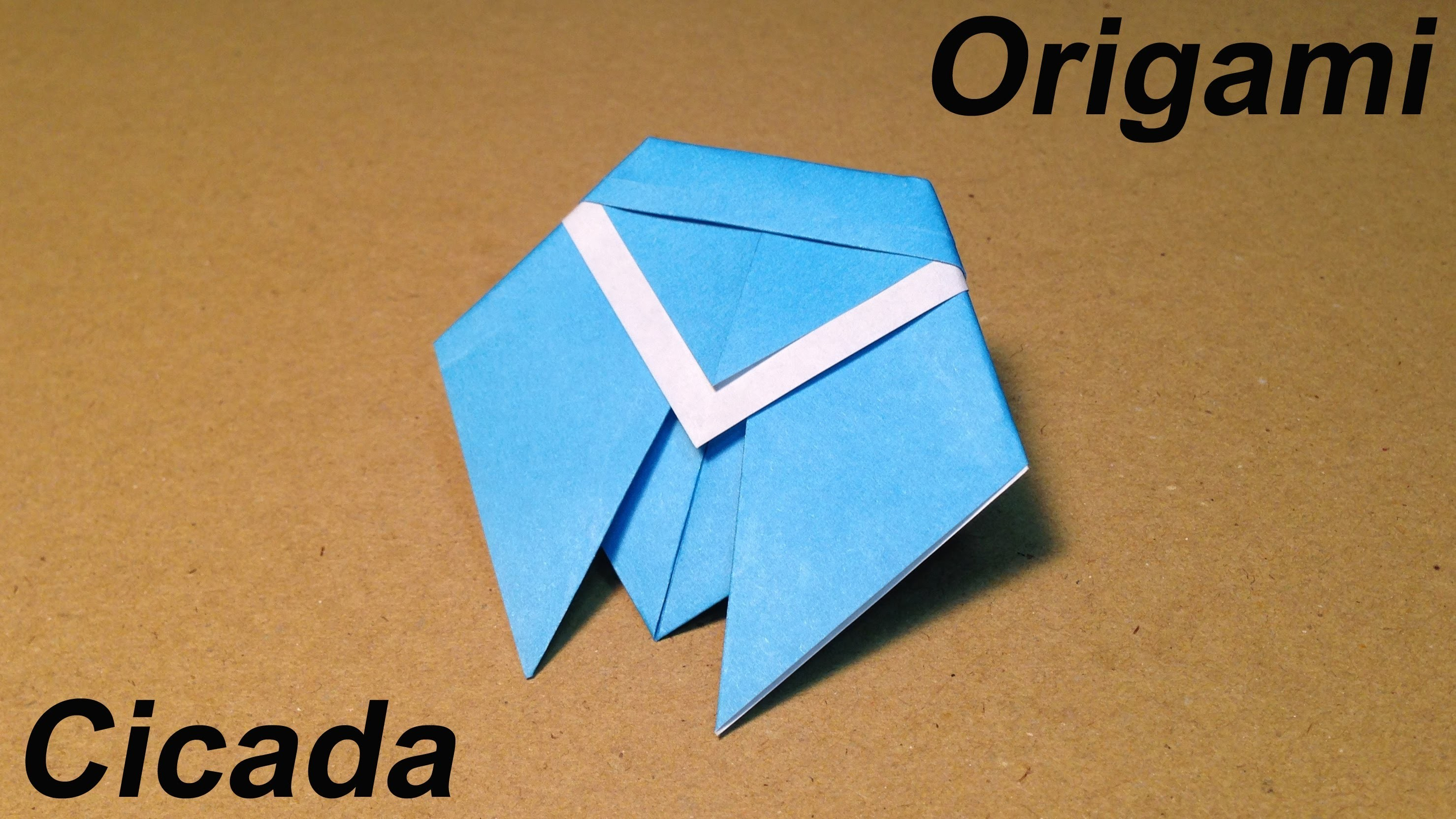 How to Make a Paper Insects. Origami Cicada. Easy for Children
